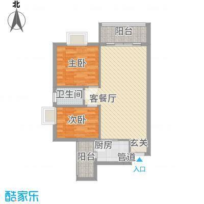 花香四季・雅苑78.70㎡A1户型2室2厅1卫1厨