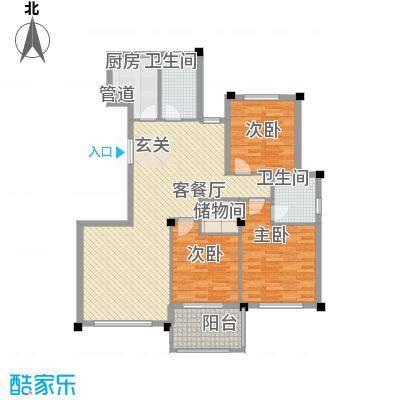柏顿公馆138.10㎡高层G3户型3室2厅2卫1厨