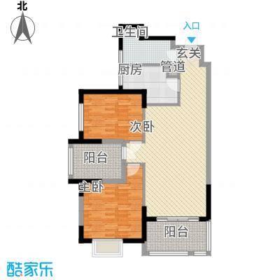 顺民宜盛花园15.00㎡8、13号楼B2户型3室2厅1卫1厨
