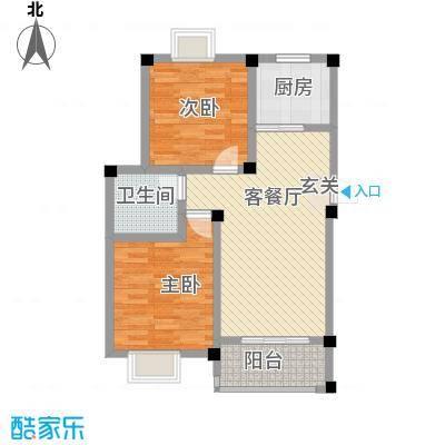 天悦华景85.10㎡二期多层17、18、20、21、22#A1户型2室2厅1卫1厨