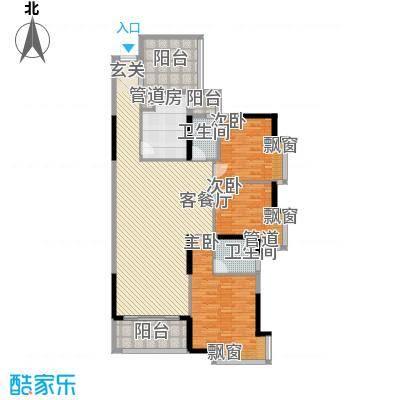 锦绣山河四期观园14.00㎡E户型3室2厅2卫1厨