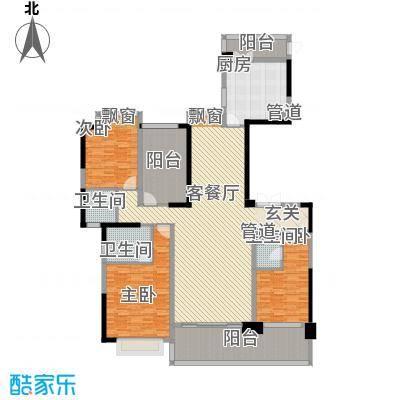锦绣山河四期观园2.00㎡C户型3室2厅3卫1厨