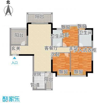 锦绣山河四期观园14.00㎡4#1单元01、02户型3室2厅2卫1厨