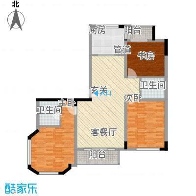 大唐四季花园143.56㎡C1型户型3室2厅2卫1厨