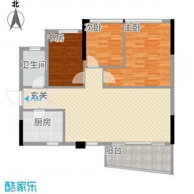 金茂华庭8.00㎡06A户型3室2厅1卫1厨