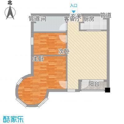悦泰街里项目3.00㎡8号楼B1户型2室2厅1卫1厨
