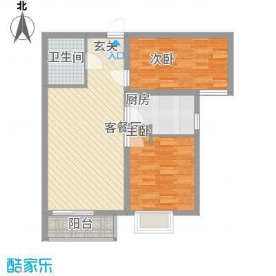 银河领域1#楼两居户型
