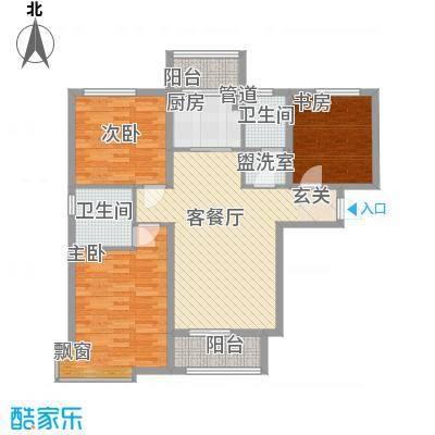 银河领域1#楼三居户型