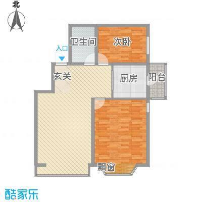 盛世华庭B611.35㎡B户型2室2厅1卫