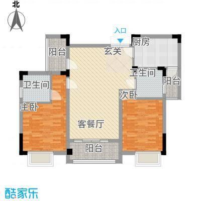 东方国际花园11.00㎡B户型2室2厅2卫1厨