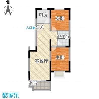 芳清苑4.47㎡3#C户型2室2厅1卫1厨