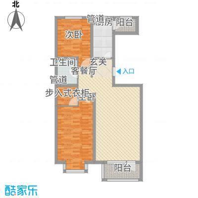 世代龙泽湾11.00㎡D户型2室2厅1卫1厨