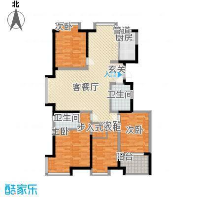 阿尔卡迪亚文承苑166.48㎡18/21/23号楼D户型4室2厅2卫