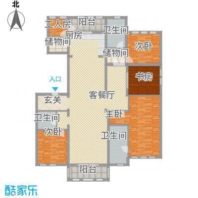 维科太子湾253.00㎡1#楼标准层A户型4室2厅3卫1厨