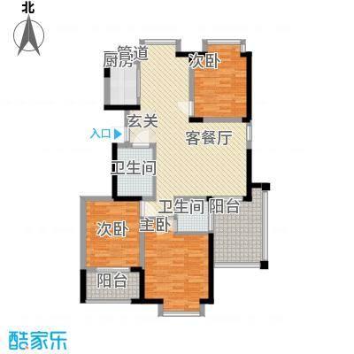 阿尔卡迪亚文承苑133.70㎡24#B户型3室2厅2卫