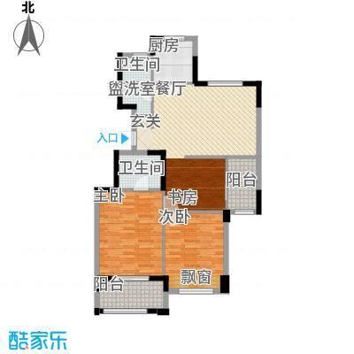 金山福地115.00㎡C2户型2室2厅2卫1厨