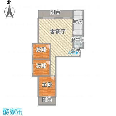 金基泰和苑156.32㎡N户型3室2厅1卫1厨