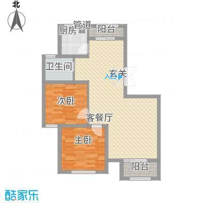 天房海天园高层标准层B户型