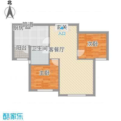 天房海天园高层标准层J户型