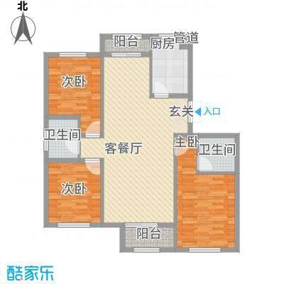天房海天园高层标准层C户型