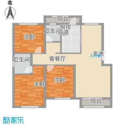 天房海天园高层标准层D户型