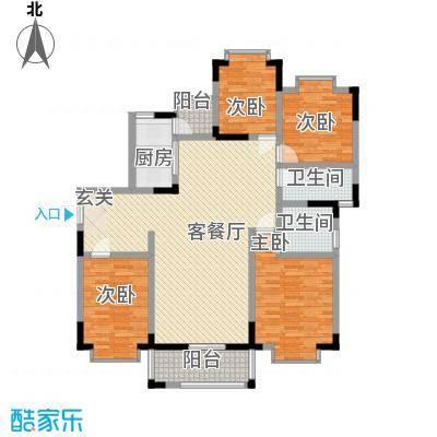 国立・美寓15.12㎡B座06户型4室2厅2卫1厨