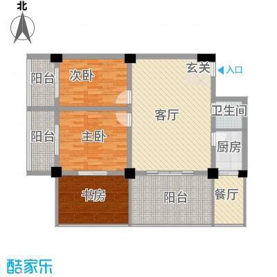 金基泰和苑12.88㎡A户型3室2厅1卫1厨