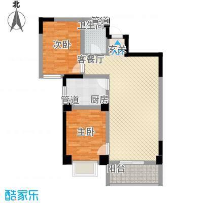 海唐南寒圣都3.10㎡3号楼D户型2室2厅1卫1厨