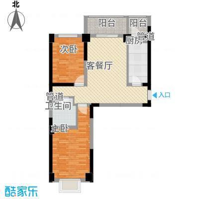 海唐南寒圣都3.86㎡3号楼C户型2室2厅1卫1厨
