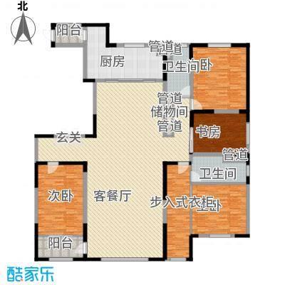 卓信EHO国际社区265.52㎡高层A4户型4室2厅2卫1厨