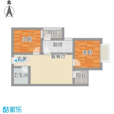鑫缘佳地76.17㎡C3户型