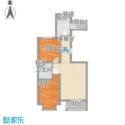 宏强水木清华87.00㎡文汇阁户型