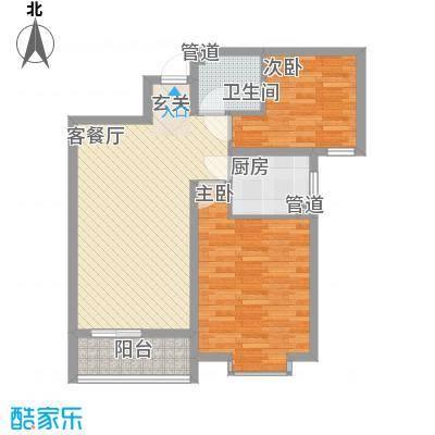 宏强水木清华88.00㎡文宗阁户型2室2厅1卫1厨