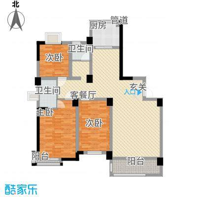 中央华府14.80㎡A2、A3户型3室2厅2卫1厨