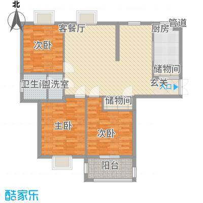 中央华府13.00㎡A4楼0户型3室2厅1卫1厨