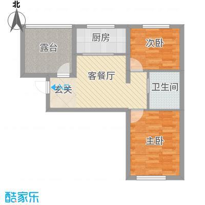 兴达河畔鑫莲75.62㎡兴达户型