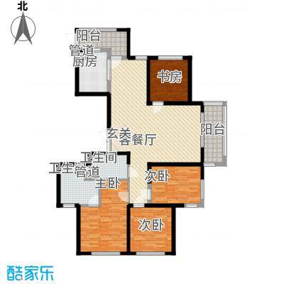 象山丹桂花园158.00㎡户型4室2厅2卫1厨