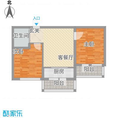 兴达河畔鑫莲85.88㎡兴达户型