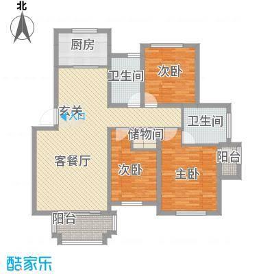 景泰园H户型4室1厅1卫1厨