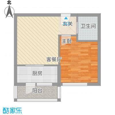 兴达河畔鑫莲58.65㎡兴达户型
