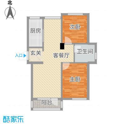 兴达河畔鑫莲88.40㎡兴达户型