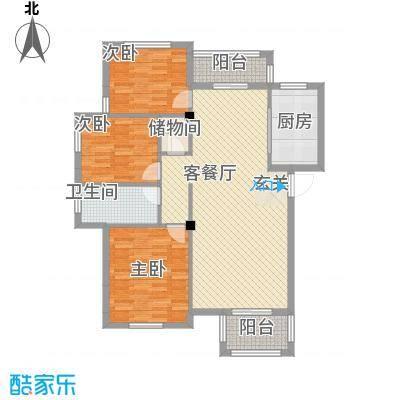 景泰园I户型3室2厅1卫1厨