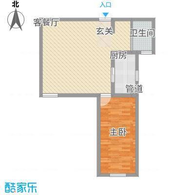 汇龙国际花园71.70㎡6#户型1室1厅1卫1厨