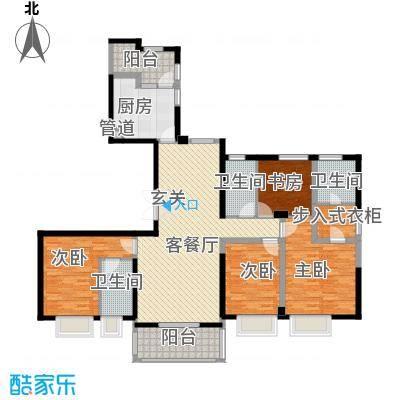 ART蓝山178.00㎡标准层E户型4室2厅3卫1厨