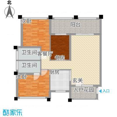 马山寨海景豪庭132.00㎡J户型3室2厅2卫1厨