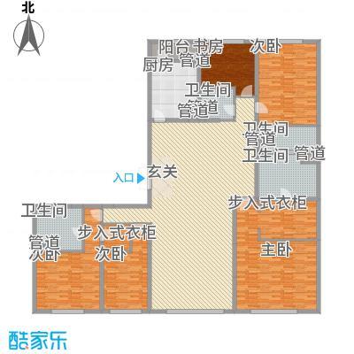 沈阳万达公馆B3-B户型