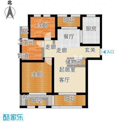 亿丰赛格数码城90.00㎡财富公馆房源户型2室2厅1卫-副本
