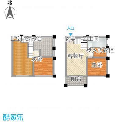 马山寨海景豪庭18.00㎡1#LOFT公寓S户型2室2厅1卫1厨
