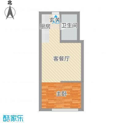 中金国际51.00㎡D户型1室1厅1卫1厨
