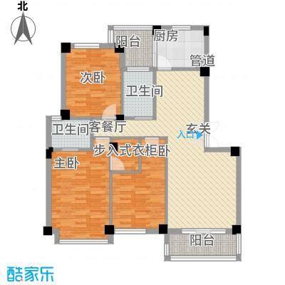 雅戈尔东湖馨园122.67㎡户型3室2厅2卫1厨